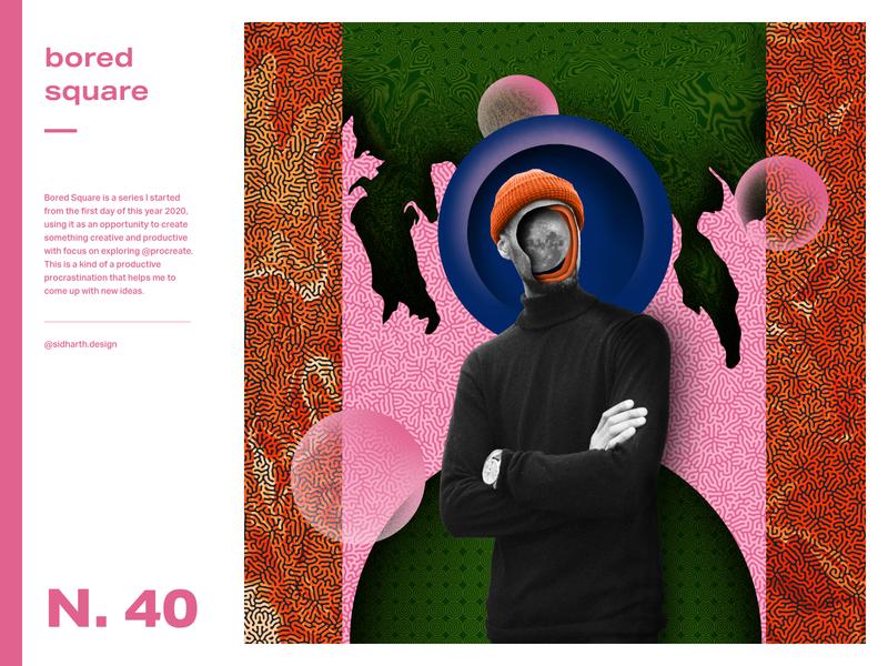 Demeaned     Square 40 graphic design collage moon human procreate artwork digital art digital square bored demean