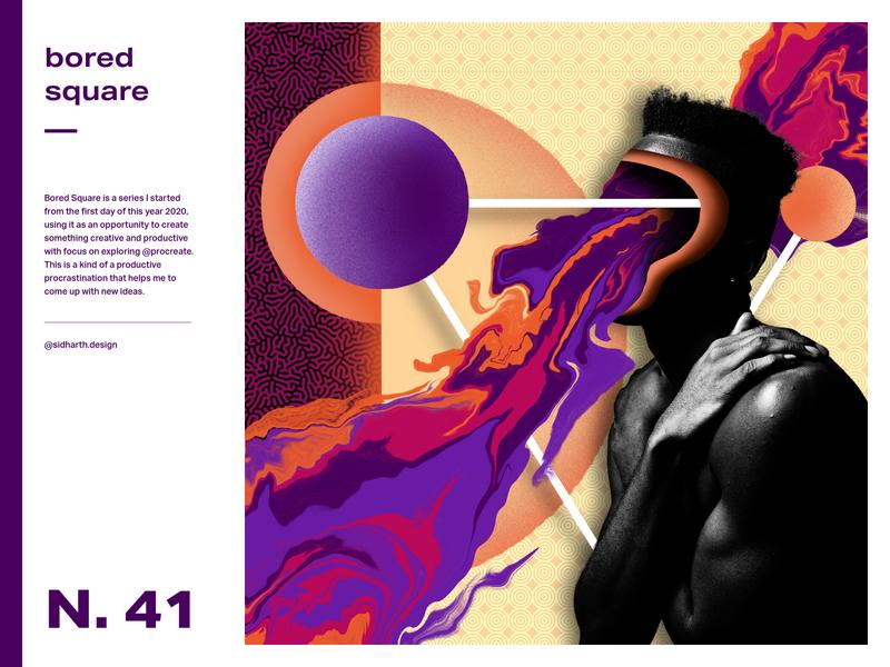 Spirited artwork design graphic spirits poster series bored poster art poster digital procreate collage square spirit