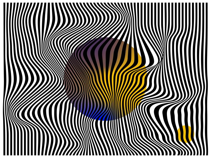 Ending Move motion blue black and white destruct illustration graphics waves line circle yellow destruction