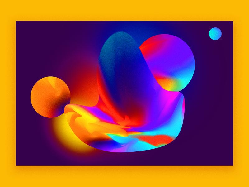 Cosmos experiment cosmos artwork art graphic poster circle gradient graphic design cosmo