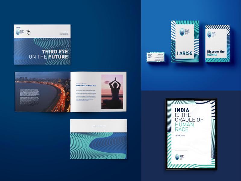 Brand India Summit  |  Branding event design summit india blue stationery design quote design graphic branding diary brochure application