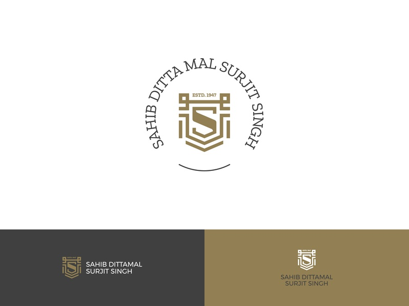 Sahib Textiles  |  Rebranding dress fabric branding graphic identitydesign 1947 premium sahib india gold legacy identity crest symbol spool logo textile