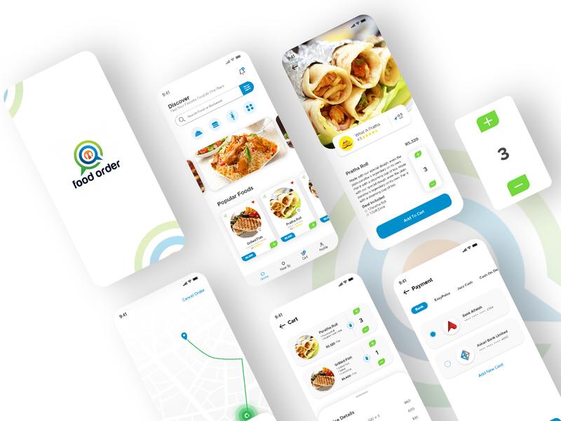 Food Order - App Concept app design food recipe cooking resturant custom design ux food order food app booking app dailyui dribbble design concept app ui