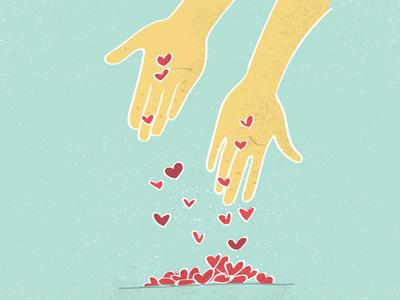 Offering Love Editorial Illustration