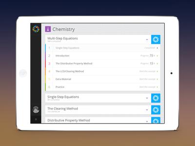 Blendspace iPad app concept - student view ipad edtech student class teacher school blendspace lesson classroom mobile edu education