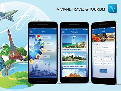 Vivian Travel - An Application for Travel Agency travel booking app app for travel agency app for travel agency ondemand travel app travel application travel agency travel app ui travel app design travel apps travel app