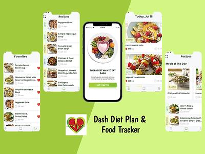 Dash Diet Plan & Food Tracker design app mobile app