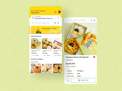 Hampers Mobile Apps mockup mobile app mobile design mobile ux app design ui