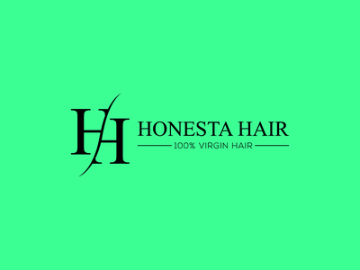Honesta Hair Logo brand graphicdesign graphic businesscard hair vector icon logo illustration design branding