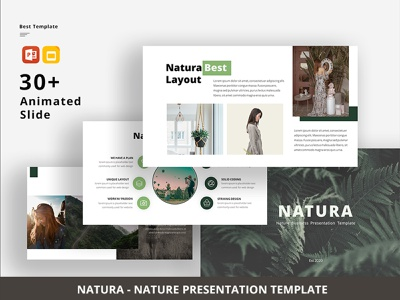 Natura - Nature PowerPoint Template elegant presentation template powerpoint template powerpoint modern minimal free download free design creative corporate clean business proposal business presentation brand animations animation agency