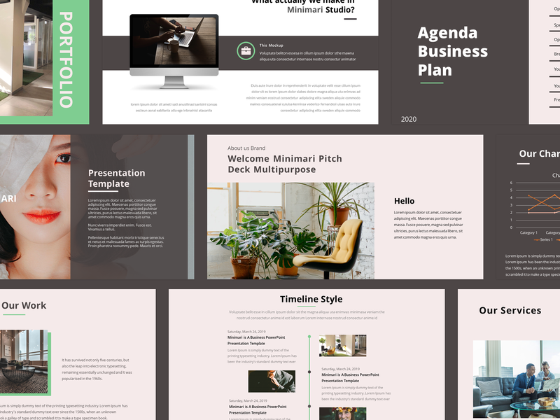 Minimari - Pitch Deck Multipurpose Powerpoint Template