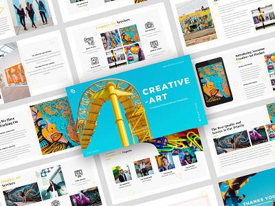 Creative-Art – Creative Business Presentation Template corporate brand template agency elegant minimal design business modern creative clean