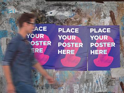 Urban Poster Free Mockup design branding free urban poster mockup free mockup mockup poster urban