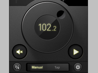 Steinway Metronome App iphone metronome toggle wheel