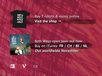 Band website - Buy stuff in the sidebar