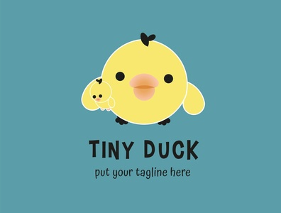 Cute Tiny Duck