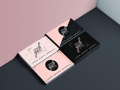 Business Cards Gab Import Store flat vector logo branding bussines card