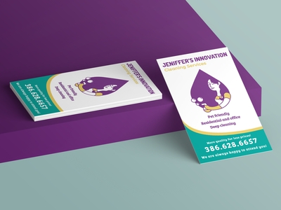 Jeniffers Inovation Businesscard flat logo vector branding bussines card