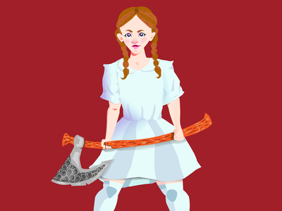 Lumberjack girl dribbbleweeklywarmup halloween girl character girl illustration lumberjack vector illustration