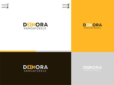 Debora logo design typography vector logo illustration icon graphic design flat design branding minimal