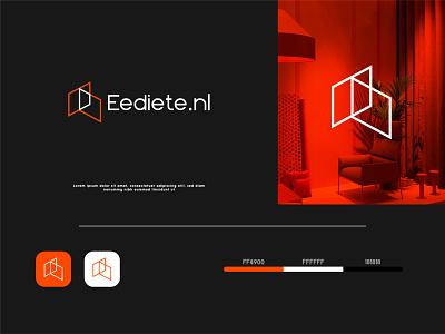 Eediete logo design colorful business logo branding logo illustration icon graphic design flat design minimal