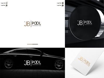 JB Pool Construction logo design luxury logo cool logo logodesign logo design minimal logo design minimal logo illustrator minimalist logo modern logo business logo design icon logo graphic design flat minimal