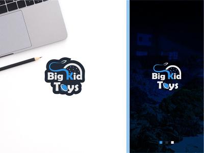 Big Kid Toys: Logo design project kid logo illustration branding logofolio creative logo modern logo minimal logo logo design flat icon design minimal business logo logo graphic design