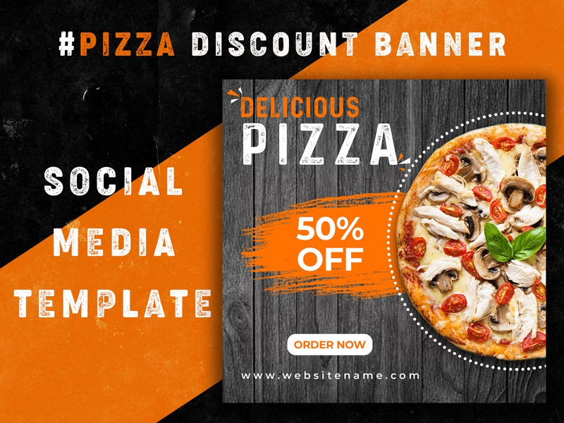Pizza Discount Banner - Social Media Template