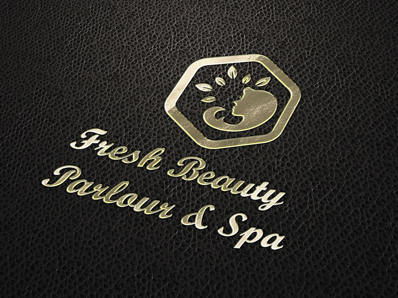 Fresh Beauty Parlour & Spa Logo goldenratio spalogo parlour showcase psd presentation presentation paper texture paper mockup logo template logo mockup logo mock-up logo display golden gold foil gold display colorful colored