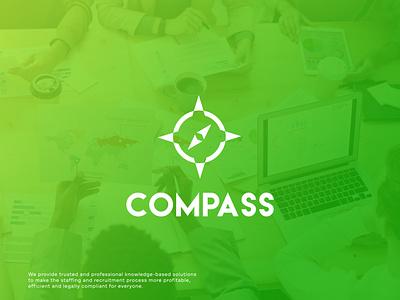 Compass Modern Logo Design for a Financial & Accounting Company icon flat creative unique professional logo modern minimal logo graphic design branding