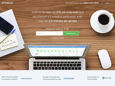 New ContaAzul homepage home contaazul startup finanças finance money dinheiro