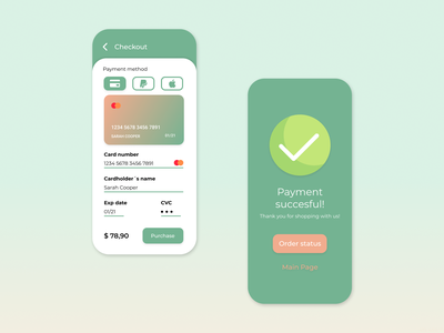 Daily UI Challenge #002 - Credit Card Checkout uidesign daily ui credit card checkout credit card checkout form 002 daily ui 002 dailyui app design dailyuichallenge daily 100 challenge