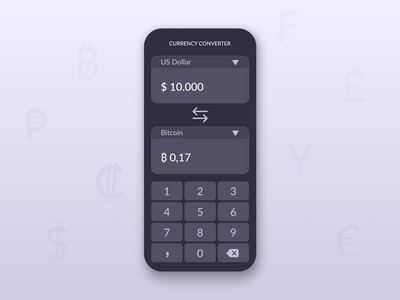 Daily UI Challenge #004 - Calculator currency converter currency converter calculator ui calculator dailyui 004 004 ui design dailyuichallenge dailyui daily 100 challenge app