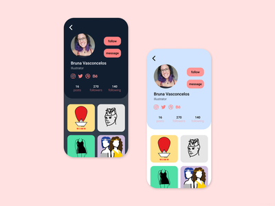 Daily UI Challenge #006 - User Profile social media design profile design profile page 006 dailyui 006 illustration ui design dailyuichallenge dailyui daily 100 challenge app