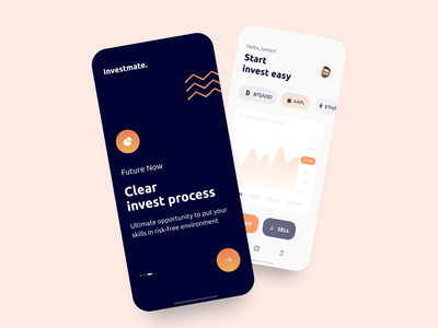 Invest app concept figma design minimalism color icon typography ux ui invest mobile