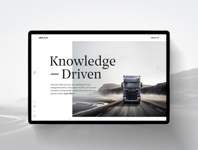JBP Web Stuffs shipping transportation vehicle commericial truck trucking digital web webdesign website interactive jbp