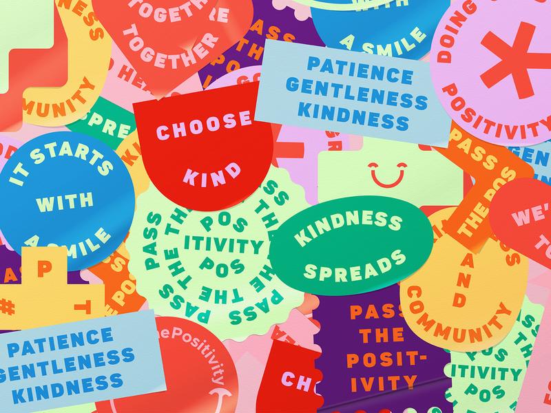 Positive Bits badge share identity campaign brand kindness coronavirus covid19 covid corona positivity positive stickers