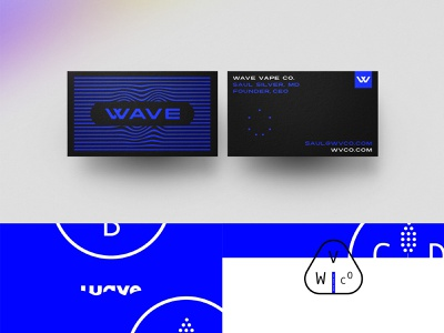 Wave CBD water branding kit identity cannabis blue vape cbd collateral print business cards