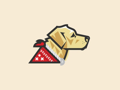 Puppy Bro golden illustration gold bandana perro puppy dog golden retriever labrador yellow lab