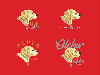 Good Boy. Old Boy. yellowlab logo typography puppy old retriever labrador handlettering puppies dog
