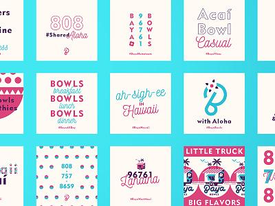 Bb Dribble2 logo identity palm maui hawaii fruit typography social foodtruck berry bowls acai
