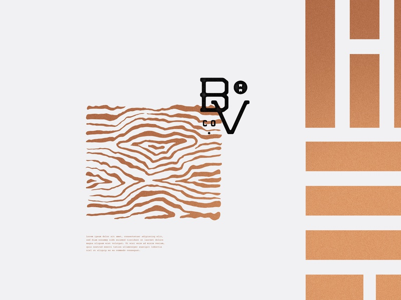 BVW woodgrain bv identity logo brand branding carpentry wood woodwork
