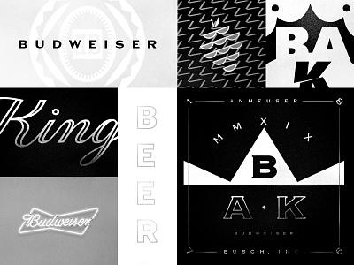 BAK neon black identity branding bottle beer king bud anheuser budweiser