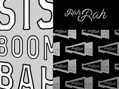 Rah Rah collegiate oldschool logo illustration branding typography lettering varsity vintage cheer