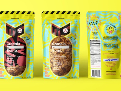 Granola So_______________ Bomb graphic design smoothie grain-free bag package packaging oats muesli bombs pattern bomb granola