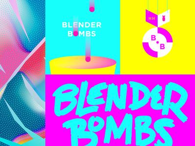 Neon Bombs blender3d identity flavor color highlighter bomb pop retro 90s neon bombs blender