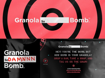 Granola So_______________ Bomb bag package branding identity packaging paleo granola target bomb