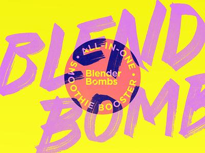 Blender Bombs blend seal color bright neon highlighter retro blender bomb handletter bombs