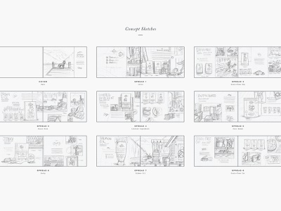 Dogfood Concept Sketches dog dogfood sketches layout branding catalog process illustration paper pencil sketch