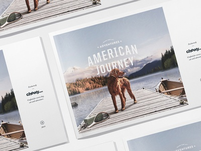 AJ Catalog topography american cross-country illustration artdirection pet landscape outdoors layout lookbook journey catalog puppy dogfood dog